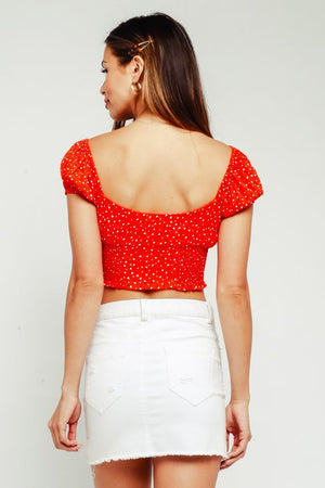 Bethany Red Crop Top
