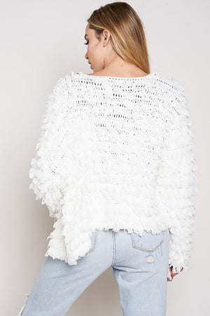 Backstage Pass White Fringe Jacket