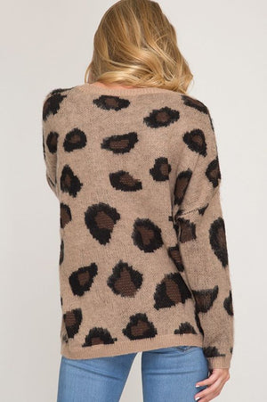 Catty Behavior Leopard Sweater