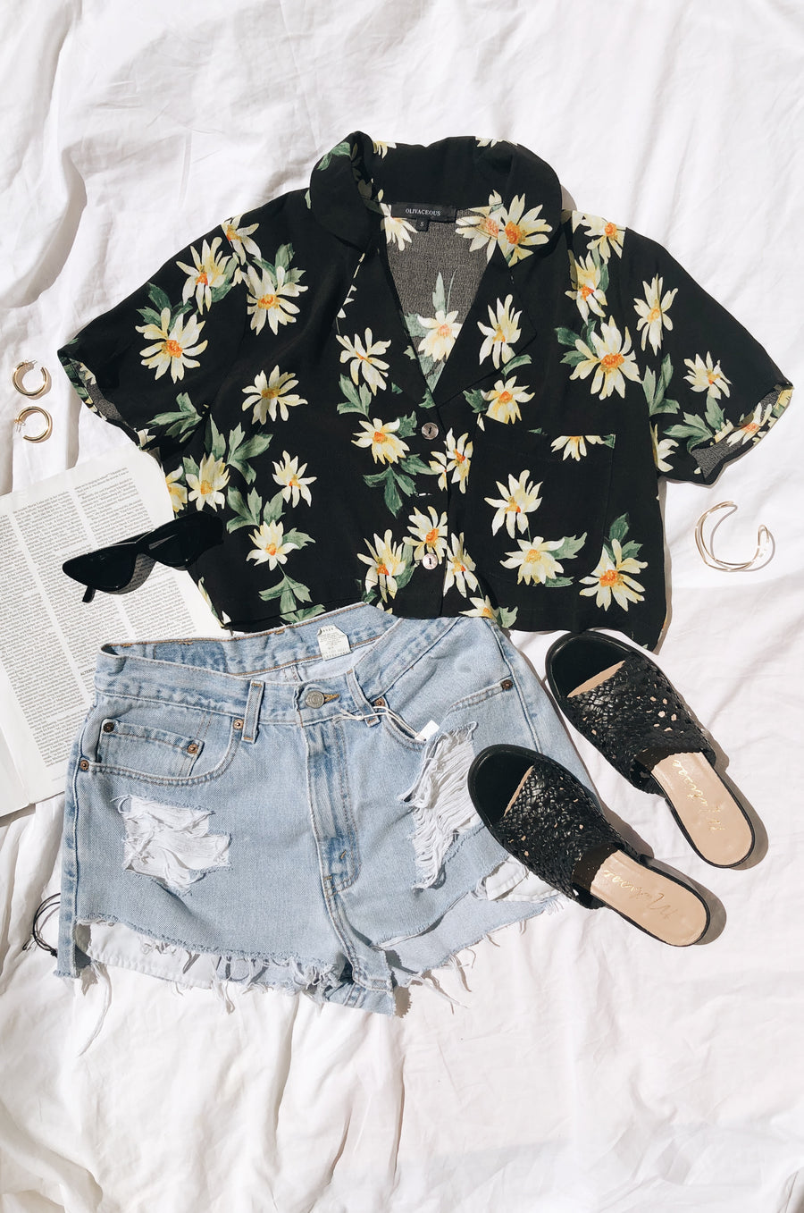Daisy For You Button Up Top