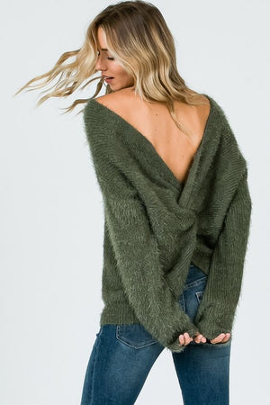 What a Twist Green Sweater
