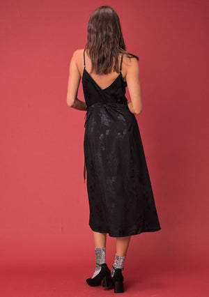 Black Demi Wrap Dress by Lovestitch Clothing