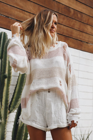 Free Fall Striped Sweater