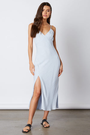 Shoreline Light Blue Midi Dress