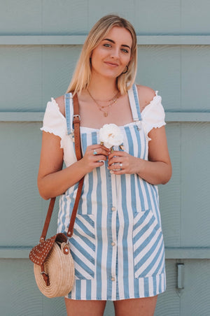 Newport Striped Overalls