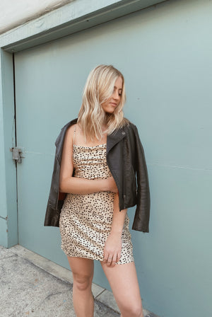 Spotty Satin Mini Dress