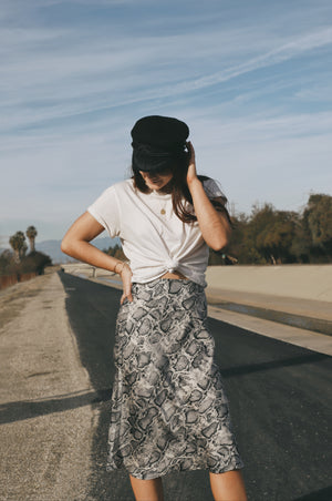 Snake Right Midi Skirt