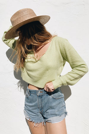 Knits About You Lime Sweater