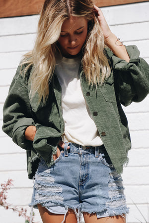 Forest Green Lexie Corduroy Jacket
