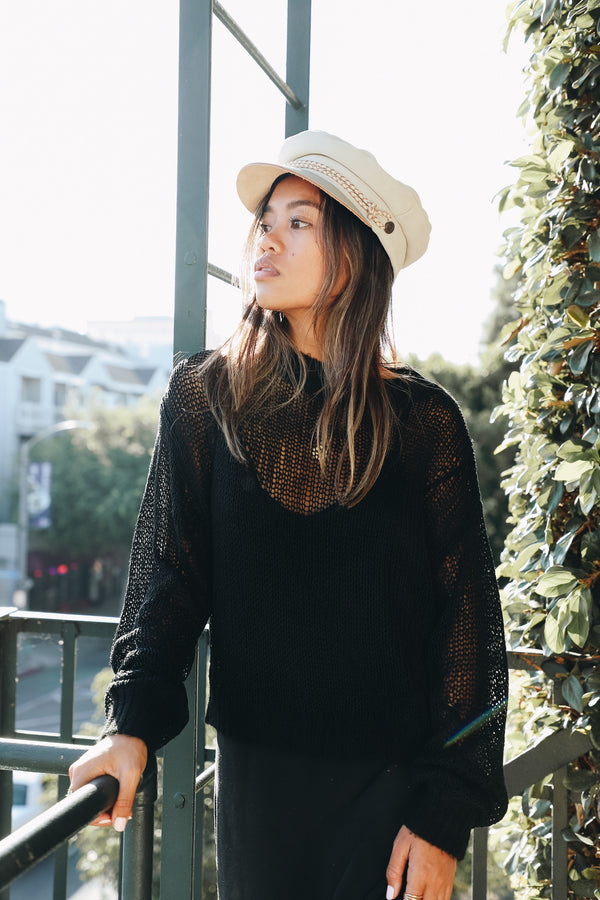 Back to Basics Sheer Sweater