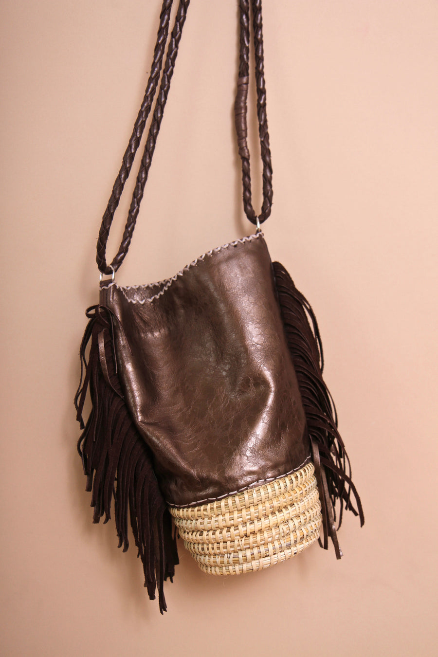 Brown Mila Bucket Bag by Pamela V