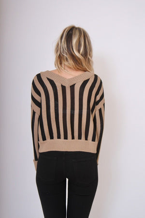 Black/Brown Beckett Sweater