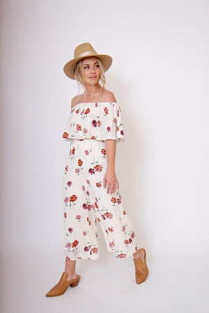 Winona Floral Jumpsuit by Sage the Label