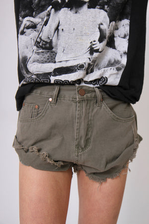 Green Cali Denim Shorts