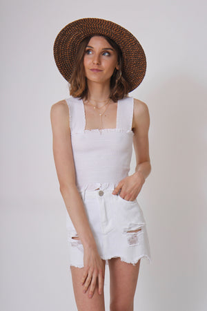 Rodeo White Denim Skirt