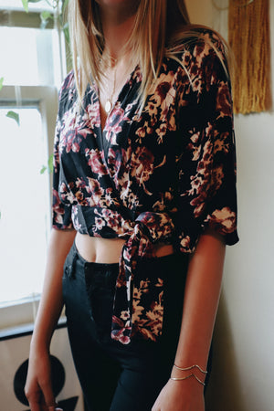Haisley Floral Wrap Top