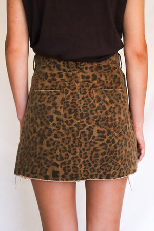 Seeing Spots Leopard Skirt