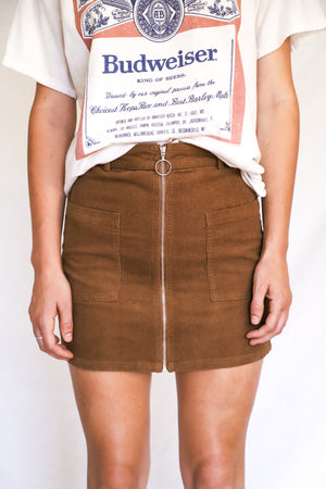 Brown Casey Corduroy Skirt