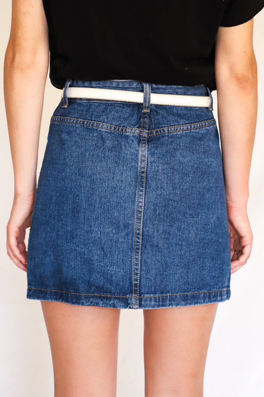 On the Down-Low Denim Skirt