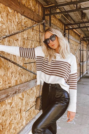 Brown Striped Verona Sweater