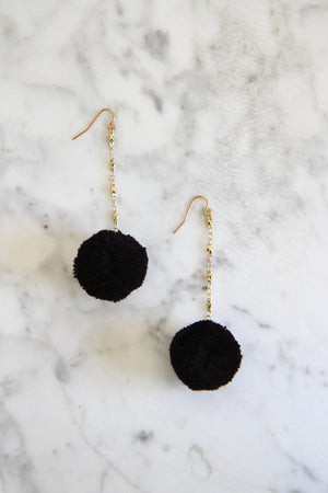 Black Jude Earrings by Vanessa Mooney