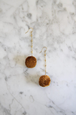 Caramel Jude Earrings by Vanessa Mooney