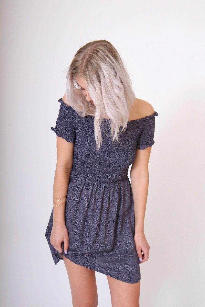 Spotty Off the Shoulder Dress by MINKPINK