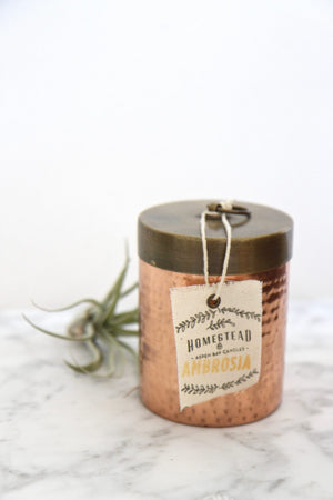 Homestead Hammered Canister Candle