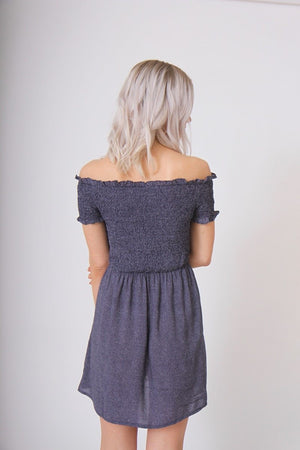 Spotty Off the Shoulder Dress by Mink Pink
