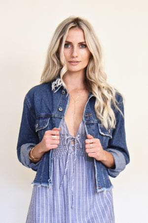 Dana Frayed Denim Jacket