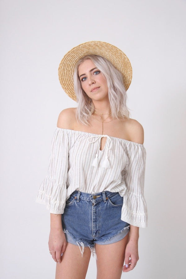 Act Natural Off the Shoulder Blouse
