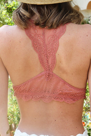 Jules Lace Bralette in Ginger