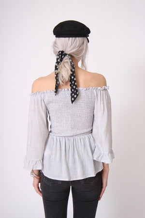 Spotty Off the Shoulder Blouse by Mink Pink