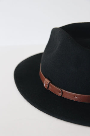 Black/Brown Messer Fedora by Brixton
