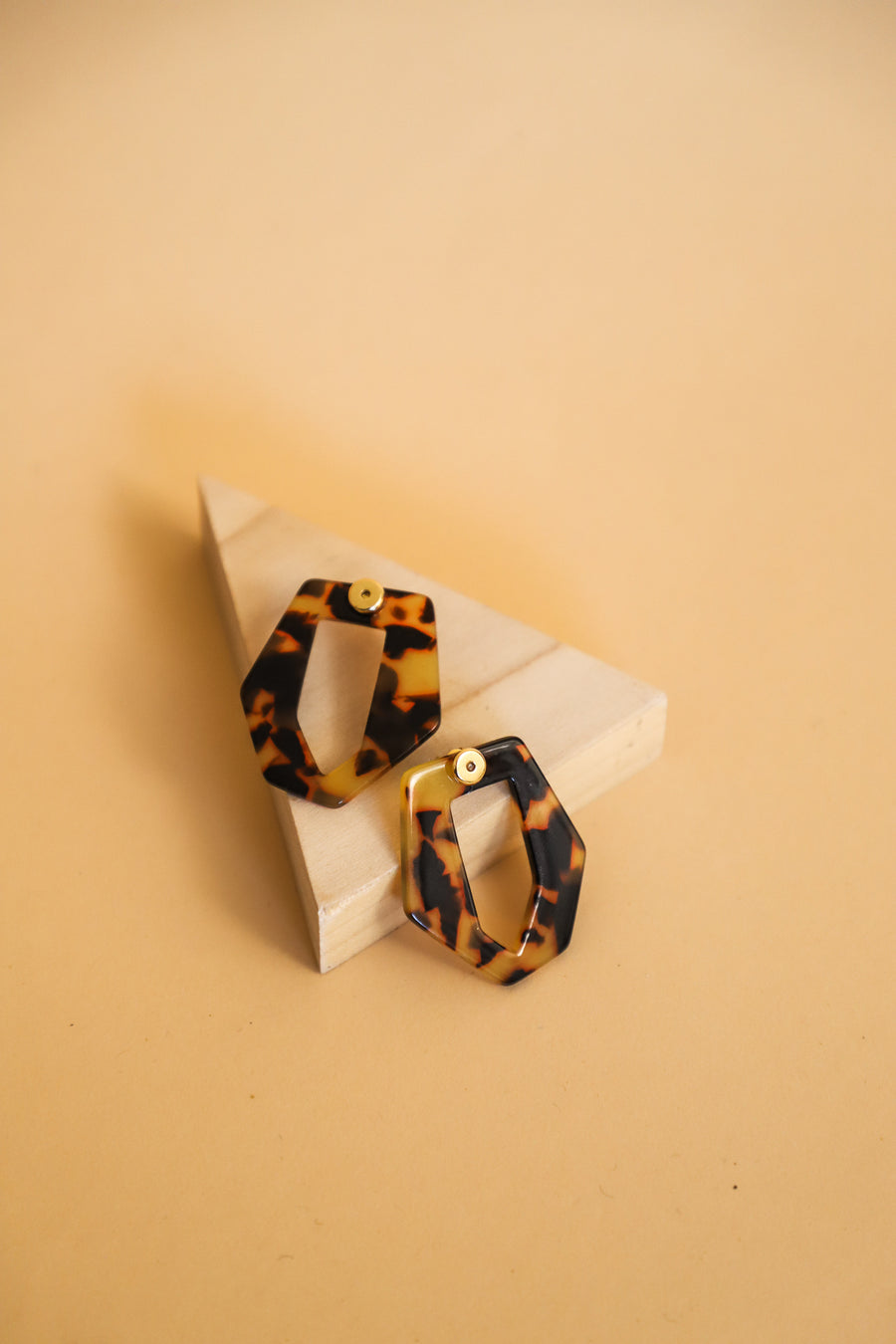 Tortoise Geometrical Earrings