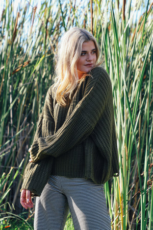 Olive Fleetwood Sweater