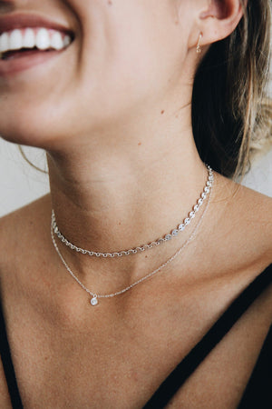 Sequin Choker (Silver & Gold) by Marida Jewelry