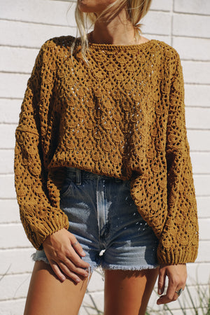 Knit Happens Mustard Sweater