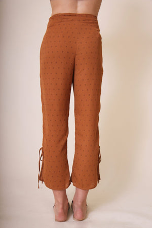 Kaylee Orange Patterned Pants