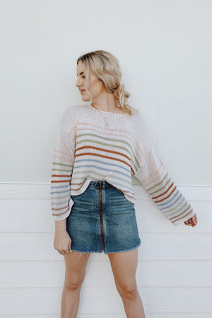 New Day Multi Striped Sweater