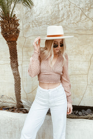 Abbot Kinney Long Sleeve Crop Top