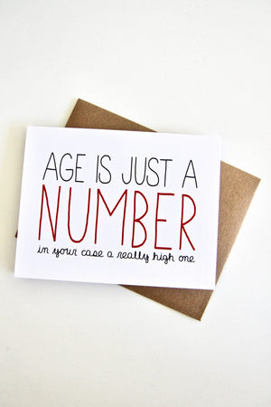 Age is Just A Number by Card Julie Ann Art