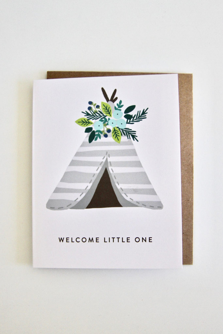 Welcome Little One Card by Julie Ann Art