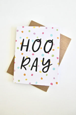 Hooray Card by Julie Ann Art