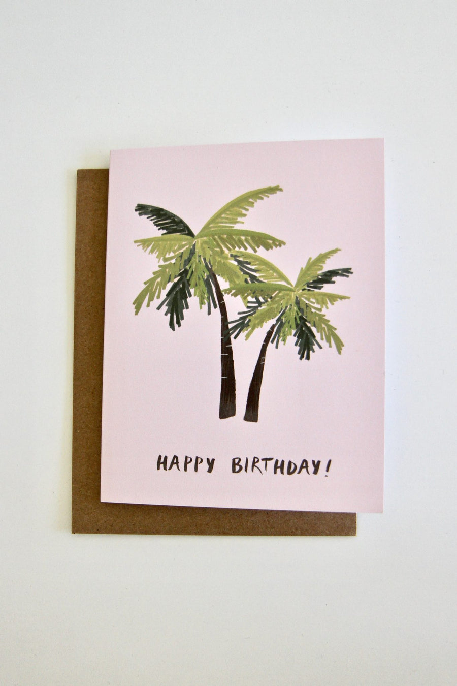 Happy Birthday Palm Tree Card by Julie Ann Art