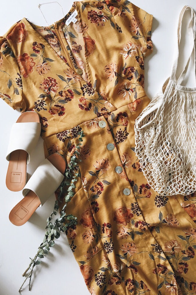 Sunset View Floral Midi Dress