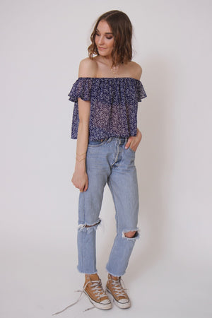 Starry Eyed OTS Blouse by Sage the Label