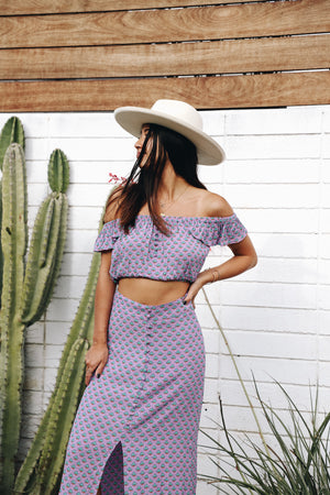 Ryder Purple Crop Top