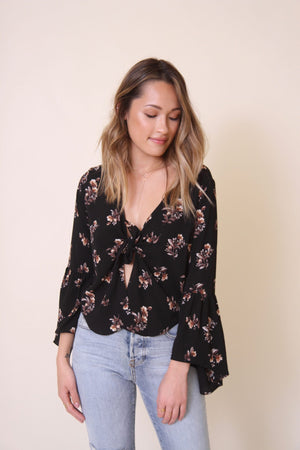 Rosaline Purple Floral Blouse