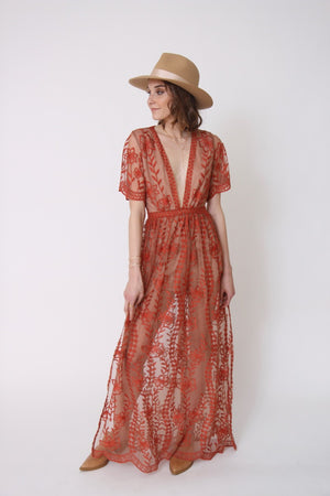Copper Lace Maxi